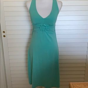 Tommy Bahama Aqua color XXS cross back dress